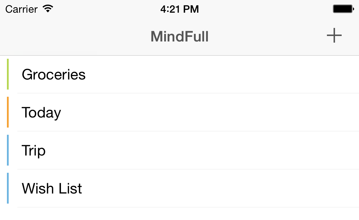 MindFull List - Checklist for iPhone, iPad and Macintosh